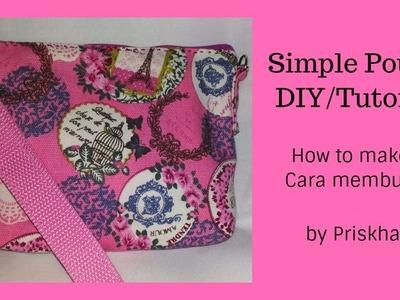 (Cara membuat) Pouch Simple DIY.Tutorial (In Indo, En)