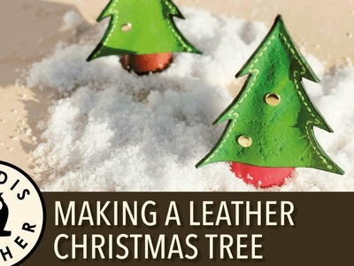 Christmas Leather Craft #1 - Making a Christmas Tree 4K