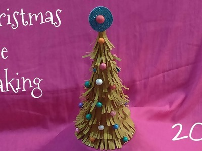 Christmas tree making with paper||Christmas tree making ideas||Christmas tree craft ideas||2017