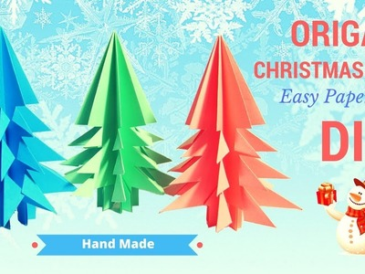 Christmas tree paper craft ORIGAMI ???? how to make christmas tree handmade #christmas #happynewyear