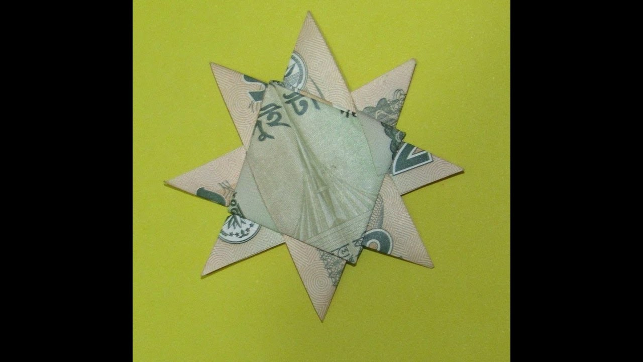Craft: how to make note flower (2 tk note)
