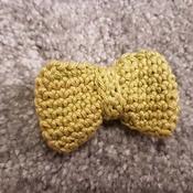 Crochet Bow Style Brooch