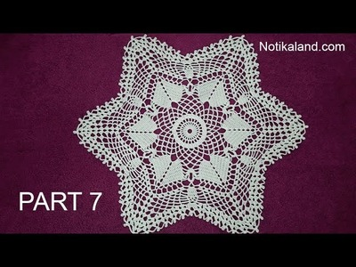 CROCHET How to crochet  lace doily tutorial Part 7, 23 - 25  round