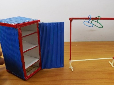 Cute Miniature Wardrobe and Clothing Rack - Easy Craft