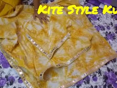 Designer Kite Style Kurti. Triangle Kurti Drafting & Cutting in Hindi. DIY  SARA