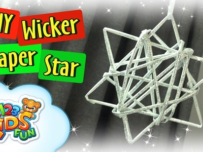 ???? DIY by Creative Mom - How to Make Paper Wicker Star Christmas Decorations and Crafts 123 Kids Fun