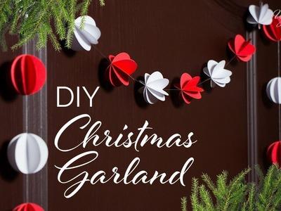 DIY Christmas Garland   Paper Ball Garland   Paper Craft