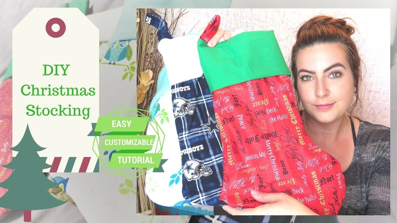 DIY Christmas Stocking Tutorial | Make Your Own Christmas Holiday Stocking (Full Length Tutorial)
