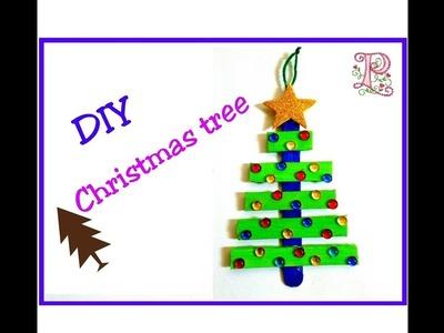 DIY : Christmas tree || pop sticks craft | Christmas tree making using pop sticks at home