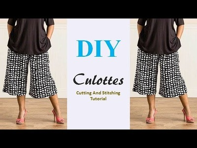 DIY Culottes Cutting And Stitching Full Tutorial by PN'z World