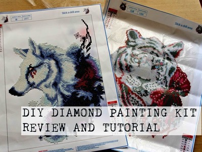 DIY Diamond Painting Kit Tutorial And Review | PassionFruitDIY