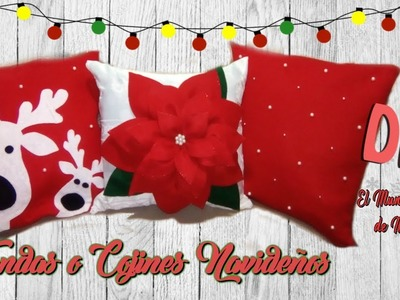 DIY  FUNDAS O COJINES NAVIDEÑOS. ????DIY CHRISTMAS PILLOWS