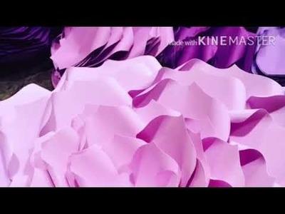 DIY Large Paper Flowers Tutorial ????????