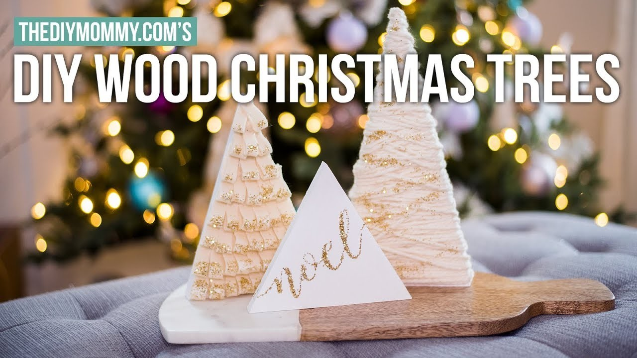 DIY MINI WOOD TREE DECORATIONS | Christmas DIY & Decor Challenge 2017