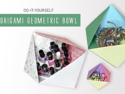 DIY Origami Geometric Paper Bowl | Paper Craft