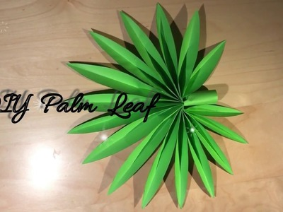 DIY Palm Leaf. Paper Craft Idea. DIY Tutorial. Gör Det Själv. Wall decoration