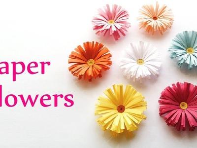 Diy paper flower tutorial- সুন্দর ফুল। Room decor