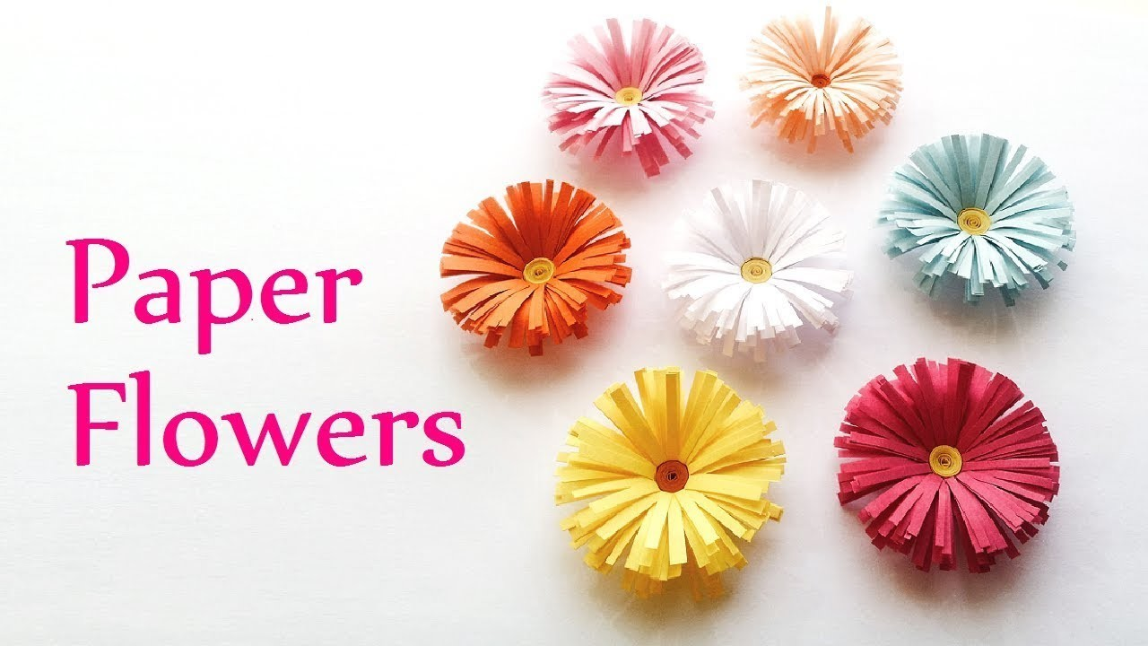 Diy Paper Flower Tutorial Room Decor