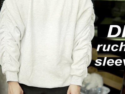 DIY Ruched Sweater Tutorial
