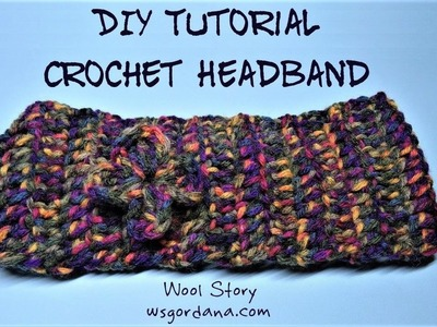 DIY Tutorial - Crochet Headband (Traka za kosu)