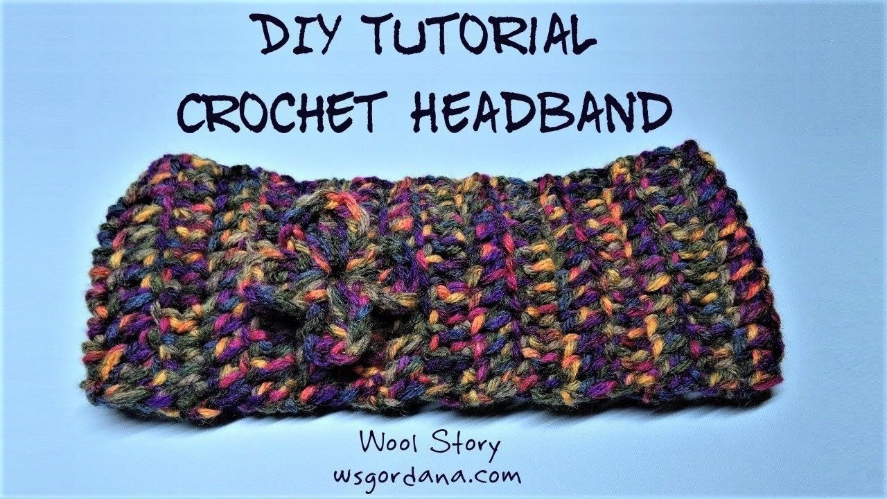 DIY Tutorial - Crochet Headband (Traka za kosu)