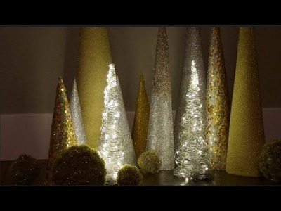 DIY Tutorial Wire Light Up Christmas Cone Trees