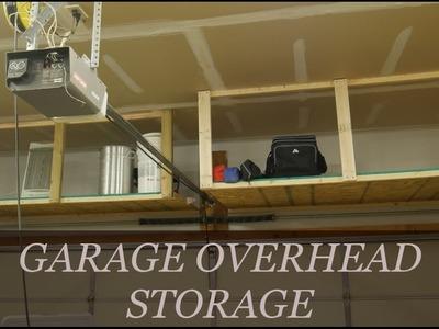 Easy DIY Overhead Garage Storage Rack