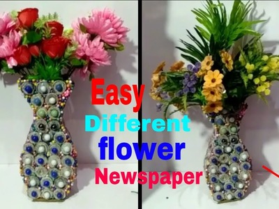Easy Dly Craft with Newdpaper Craft videos and gamla.How to make newspaper flower Craft gamla