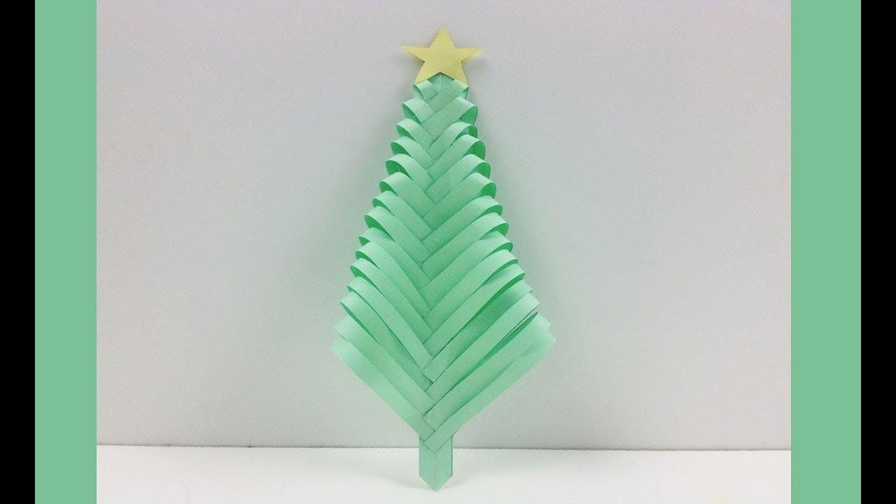 Easy Xmas Decor Crafts Merry Christmas Paper Tree How To Make