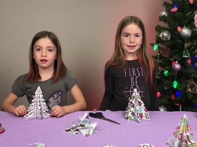 Fun Christmas tree paper craft project for kids - DIY - Z Sisters