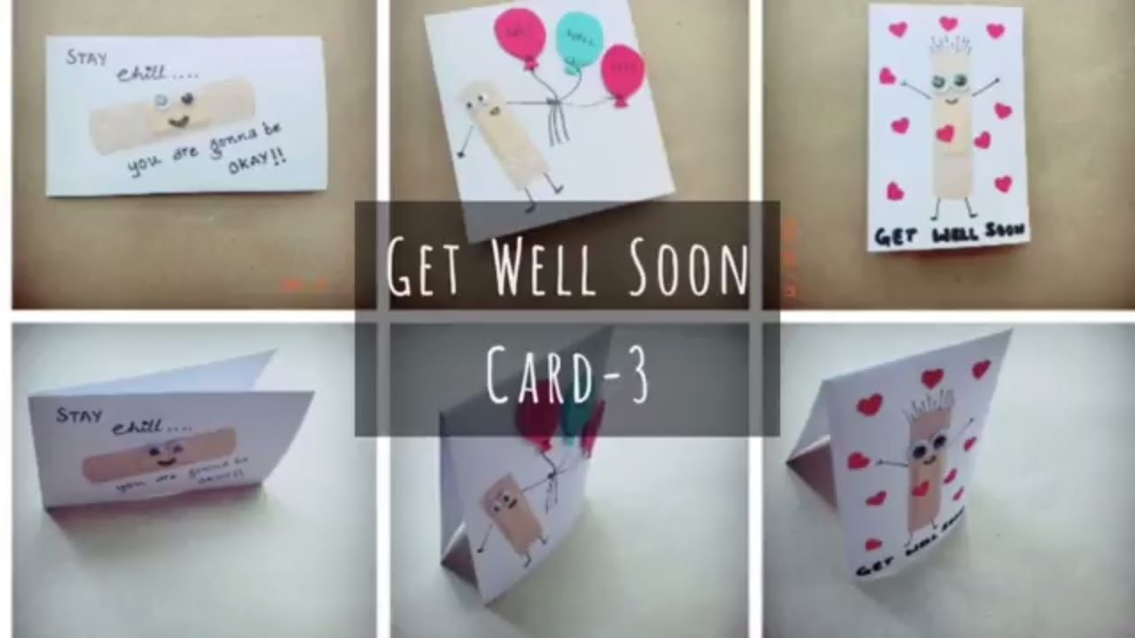 Get Well Soon Card 3 Craft For Kids Easy Diy Cards For Kids Diy