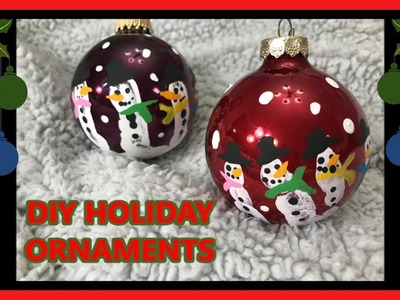 Handprint Snowman Ornaments Tutorial Holiday DIY Easy-Cheap-Fun