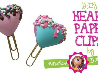 Heart Paper Clips DIY - Craft Foam Fun!