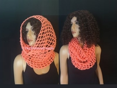 How to Crochet Light and Airy Cowl Pattern #170│by ThePatternfamily