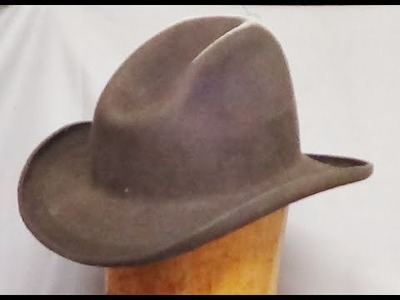 How to Make a Cowboy Hat with no mechanization. .Step 1