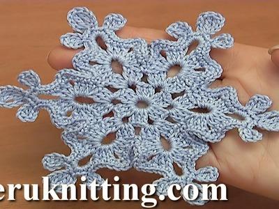 How to Make a Crochet Snowflake Tutorial 37