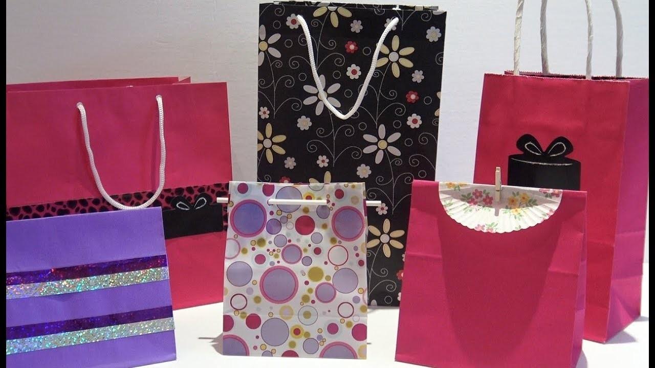 How to Make a Custom Sized Gift Bag - DIY Easy Paper Gift Bag