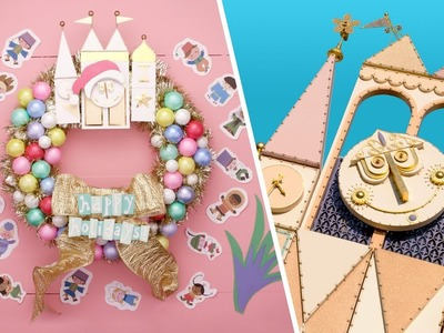 "How to Make a DIY ""it's a small world"" Wreath 