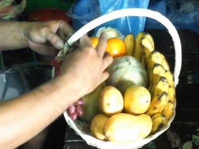 How to Make a Fruit Basket Arrangement