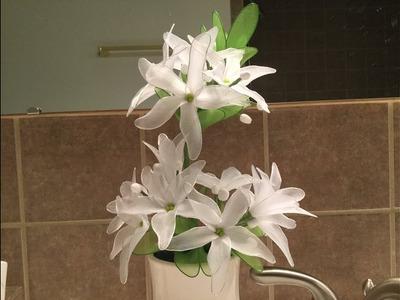How to make a nylon stocking flowers - Sampaguita Jasmine