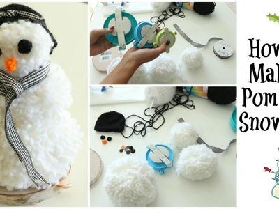 How to Make a Pom Pom Snowman