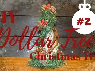 How to make a Rustic Christmas Tree   DIY Dollar Tree Rustic Christmas Tree