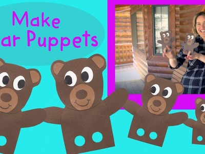 How to Make Bear Finger Puppets | DIY Craft Project for Kids