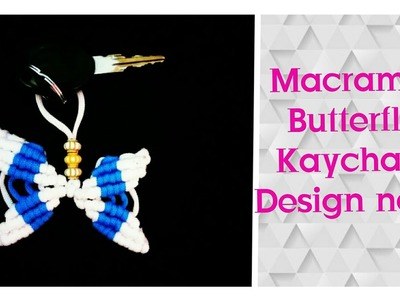 How To Make. DIY. Macrame Butterfly Key Chain. Easy Tutorial