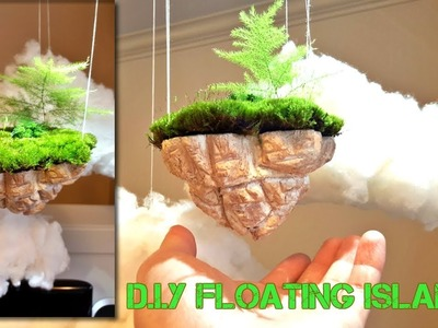 How to Make Mini Floating Island With Foam (with real plants and moss)