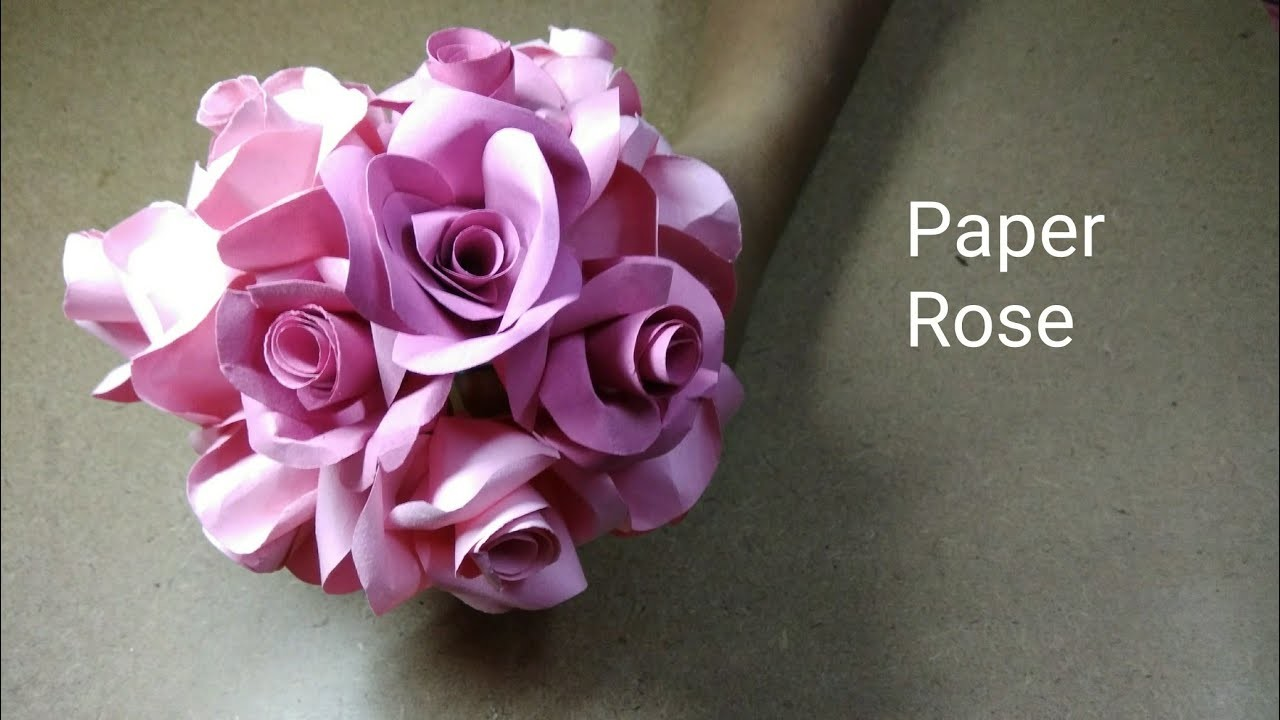 How To Make Realistic And Easy Paper Roses 5 Minutes Craft Paper