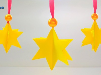 How to make simple & easy paper star | DIY Paper Craft Ideas, Videos & Tutorials | Lina's Craft Club