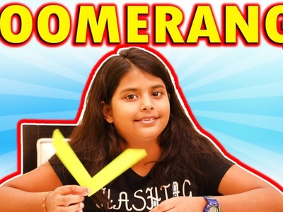 Learn How To Make An Origami Boomerang | Paper Craft For Kids | Educational Videos For Kids