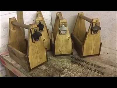 Making beer caddies for craft fairs.