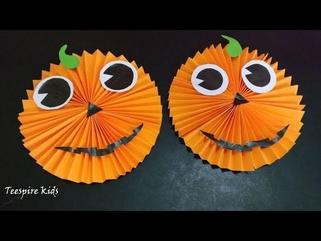 Making Of Paper Pumpkin Halloween Decoration Paper Craft